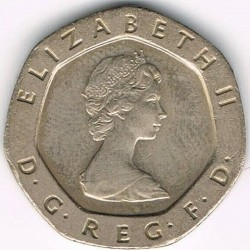 מטבע > 20פנס, 1982-1984 - בריטניה  - obverse