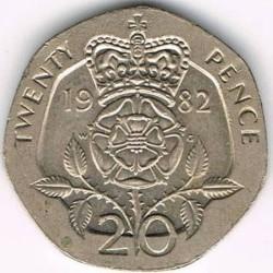 מטבע > 20פנס, 1982-1984 - בריטניה  - reverse