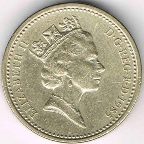 1 Pfund 1985 1990 Vereinigtes Königreich Münzen Wert Ucoinnet