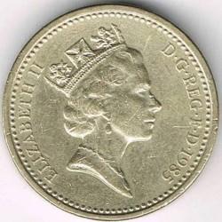 Monēta > 1mārciņa, 1985-1990 - Lielbritānija  - obverse