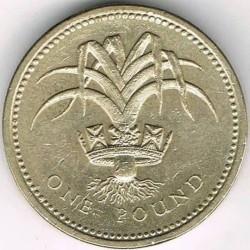 Monēta > 1mārciņa, 1985-1990 - Lielbritānija  - reverse