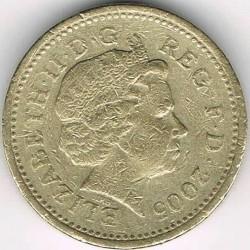 Moneta > 1svaras, 2005 - Jungtinė Karalystė  (Menai Suspension Bridge) - obverse