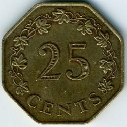 Minca > 25cents, 1975 - Malta  - reverse