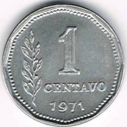 Кованица > 1цент, 1970-1975 - Аргентина  - reverse
