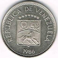 Munt > 5céntimos, 1986 - Venezuela  - obverse