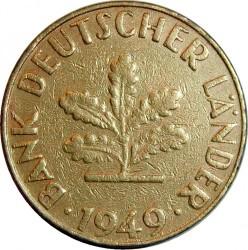 Minca > 10pfennig, 1949 - Nemecko  - obverse