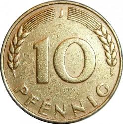 Minca > 10pfennig, 1949 - Nemecko  - reverse