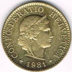 Moneta > 5rappen, 1981-2019 - Svizzera  - obverse