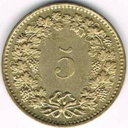 Moneta > 5rappen, 1981-2019 - Svizzera  - reverse