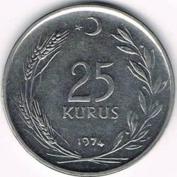 Moneda > 25kurus, 1967-1978 - Turquía  - reverse
