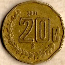 Монета > 20сентаво, 1992-2009 - Мексика  - reverse