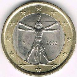 Münze > 1Euro, 2002-2007 - Italien  - obverse