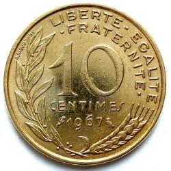 Moneta > 10santimų, 1962-2001 - Prancūzija  - reverse