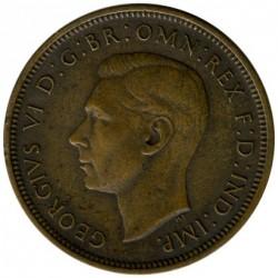 Moneda > ½penique, 1938 - Reino Unido  - obverse