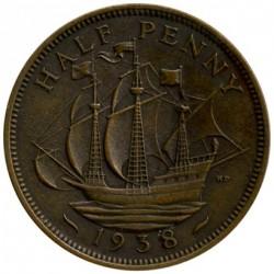 Moneda > ½penique, 1938 - Reino Unido  - reverse