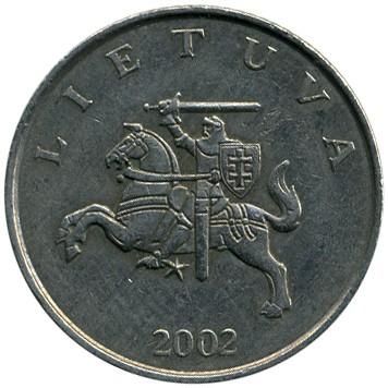 1 litas 2002 монеты зарубежных стран