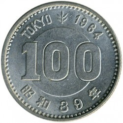 Coin > 100 yen, 1964 - Japan  (XVIII summer Olympic Games, Tokyo 1964) - obverse