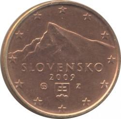 Minca > 5eurocent, 2009-2018 - Slovensko  - obverse