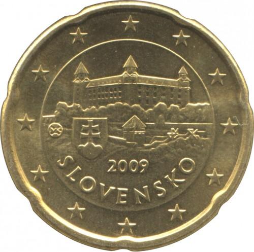 20 Eurocent 2009 2018 Slowakei Münzen Wert Ucoinnet
