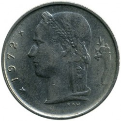 Monedă > 1 franc, 1972 - Belgia  (Legend in Dutch - 'BELGIE') - obverse