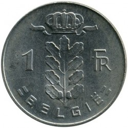 Monedă > 1 franc, 1972 - Belgia  (Legend in Dutch - 'BELGIE') - reverse