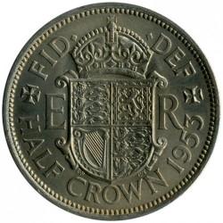 Moneda > ½corona, 1953 - Reino Unido  - reverse