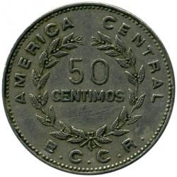 Монета > 50сентимів, 1972-1975 - Коста-Ріка  - reverse