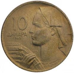 Moneta > 10dinarów, 1963 - Jugosławia  - reverse