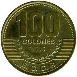 Moneta > 100kolonų, 2006-2014 - Kosta Rika  - reverse