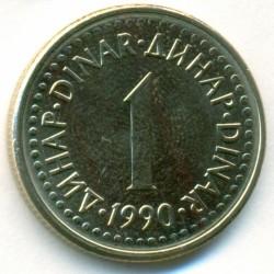 Coin > 1dinar, 1990-1991 - Yugoslavia  - reverse