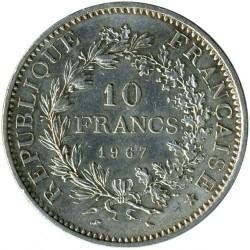 მონეტა > 10ფრანკი, 1964-1973 - საფრანგეთი  - reverse