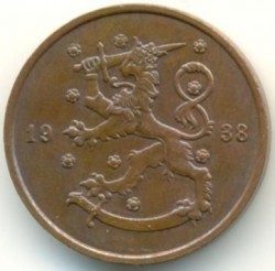 Münze > 10Penny, 1938 - Finnland  - obverse