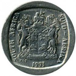 Moneta > 1rand, 1991-1995 - Sudafrica  - reverse