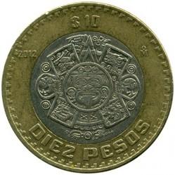 Coin > 10pesos, 2012 - Mexico  - reverse