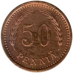 Moneta > 50penniä, 1940-1943 - Finlandia  - reverse