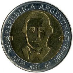 Moneda > 1peso, 2001 - Argentina  (200 Aniversario - Nacimiento de Justo José de Urquiza) - obverse