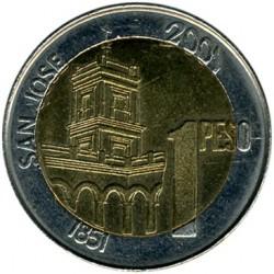 Moneda > 1peso, 2001 - Argentina  (200 Aniversario - Nacimiento de Justo José de Urquiza) - reverse