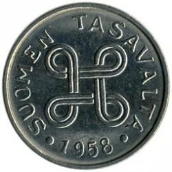 Münze > 1Mark, 1958 - Finnland  - obverse