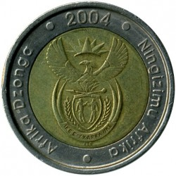 Coin > 5rand, 2004 - South Africa  - reverse