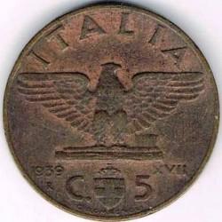 Moneta > 5centesimi, 1936-1939 - Włochy  - reverse