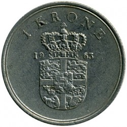 Moneda > 1krone, 1960-1972 - Dinamarca  - reverse