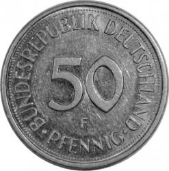 Coin > 50 pfennig, 1983 - Germany  - reverse