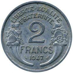Monedă > 2franci, 1941-1959 - Franța  - reverse
