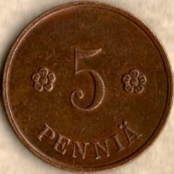 Münze > 5Penny, 1936 - Finnland  - reverse