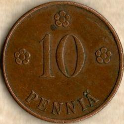Münze > 10Penny, 1928 - Finnland  - reverse