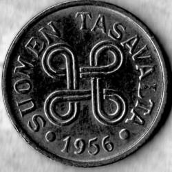 Münze > 5Mark, 1956 - Finnland  - obverse