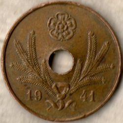 Кованица > 5пенија, 1941-1943 - Финска  - obverse