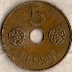 Кованица > 5пенија, 1941-1943 - Финска  - reverse