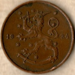 Münze > 10Penny, 1934 - Finnland  - reverse
