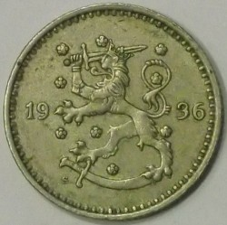 Münze > 1Mark, 1936 - Finnland  - reverse